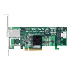 Areca - ARC-1320-4I4X - Areca ARC-1320-4I4X 8-port SAS Controller - Serial ATA/600 - PCI Express 2.0 x8 - Plug-in Card - 2 Total SAS Port(s) - 1 SAS Port(s) Internal - 1 SAS Port(s) External
