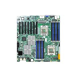 Supermicro - MBD-X8DTH-I-B - Supermicro X8DTH-i Server Motherboard - Intel 5520 Chipset - Socket B LGA-1366 - Bulk Pack - Extended ATX - 2 x Processor Support - 96 GB DDR3 SDRAM Maximum RAM - 1.33 GHz Memory Speed Supported - 12 x Memory Slots - Serial