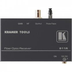 Kramer Electronics - 611R - Kramer Video Console - 1 Input Device - 1 Output Device - 16404.20 ft Range - 1 x ST Ports - Optical Fiber