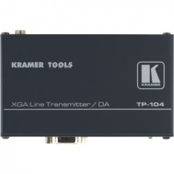Kramer Electronics - TP-104HD - Kramer TP-104HD Video Extender - 1 Input Device - 4 Output Device - 328.08 ft Range - 4 x Network (RJ-45) - 1 x VGA In - WUXGA - Twisted Pair - Category 5 - Rack-mountable