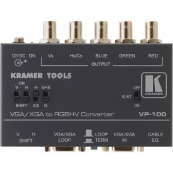 Kramer Electronics - VP-100 - Kramer Signal Converter - Functions: Signal Conversion - VGA - VGA - Rack-mountable