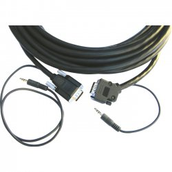 Kramer Electronics - CP-GMA/GMA/XL-50 - Kramer CP-GMA/GMA/XL-50 Audio/Video Cable - for Projector, Audio/Video Device - 50 ft - 1 x HD-15 Male VGA, 1 x Mini-phone Male Audio - 1 x HD-15 Male VGA, 1 x Mini-phone Male Audio - Shielding
