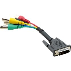 Kramer Electronics - ADC-DMA/5BF-1 - Kramer ADC-DMA/5BF Video Cable - for Video Device - 1 ft - 1 x DVI-A Male Video - 5 x BNC Female Video