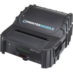 "Printek - 91834 - Printek MtP300 Direct Thermal Printer - Monochrome - Portable - Label Print - 2.80"" Print Width - 3.30 in/s Mono - 203 dpi - 1 MB - Serial - Battery Included - LCD - 3.13"" Label Width"