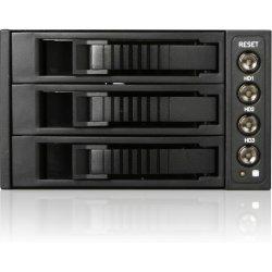 "iStarUSA - BPU-230SATA-BPL - iStarUSA BPU-230SATA Drive Bay Adapter Internal - 2 x Total Bay - 2 x 5.25"" Bay - Cooling Fan"