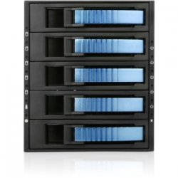 "iStarUSA - BPU-350SATA-BLUE - iStarUSA BPU-350SATA Drive Bay Adapter Internal - Blue - 5 x Total Bay - 5 x 3.5"" Bay - Cooling Fan"