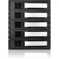 "iStarUSA - BPU-350SATA-SIL - iStarUSA BPU-350SATA Drive Bay Adapter Internal - Silver - 5 x Total Bay - 5 x 3.5"" Bay - Cooling Fan"