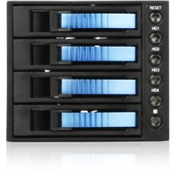 "iStarUSA - BPU-340SATA-BLUE - iStarUSA BPU-340SATA Drive Bay Adapter External - Blue - 3 x Total Bay - 3 x 5.25"" Bay - Cooling Fan"