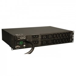 "Tripp Lite - PDUMNH30HV - Tripp Lite PDU Monitored 208V/240V 30A 12 C13; 4 C19 L6-30P Horizontal 2URM - 4 x IEC 60320 C19, 12 x IEC 60320 C13 - 2U - Horizontal Rackmount"""