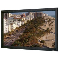 "Da-Lite - 37332 - Da-Lite Cinema Contour 37332 Fixed Frame Projection Screen - 150"" - 4:3 - Wall Mount - 90"" x 120"" - 3D Virtual Black"