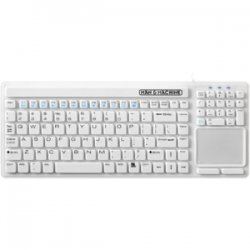 Man & Machine - SIMPLYCT/G1 - Man & Machine Simply Cool Touch Keyboard - Cable ConnectivityTouchPad - Compatible with Computer - Industrial Silicon Rubber - White