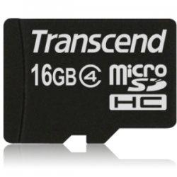 Transcend - TS16GUSDHC4 - Transcend TS16GUSDHC4 16 GB microSDHC - Class 4 - 1 Card