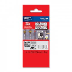 Brother International - TZE-S961 - Brother Heavy-duty Adhesive Lamntd Tape Cartridges - 1 1/2 Width - Thermal Transfer, Direct Thermal - Matte Silver - Polyethylene - 1 Each