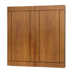 "Da-Lite - 91258 - Da-Lite Providence Conference Cabinet - 60"" Height x 48"" Width - Mahogany Surface - Hardwood, Plywood Frame"