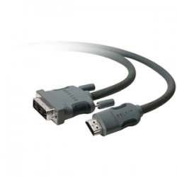 Belkin / Linksys - AM22402-06-SN - Belkin HDMi to DVI-D Cable - HDMI Digital Audio/Video - DVI-D Video - 6ft