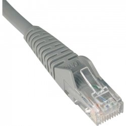 Tripp Lite - N201-015-GY - Tripp Lite 15ft Cat6 Gigabit Snagless Molded Patch Cable RJ45 M/M Gray 15' - Category 6 for Network Device - 15ft - 1 x RJ-45 Male Network - 1 x RJ-45 Male Network - Gray