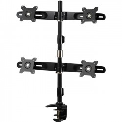 Amer Networks - AMR4C - Amer Mounts Clamp Based Quad Monitor Mount for four 15-24 LCD/LED Flat Panel Screens - Supports up to 17.6lb monitors, +/- 20 degree tilt, and VESA 75/100