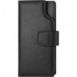 Amzer - AMZ203041 - Amzer Carrying Case (Wallet) for iPhone 8, Money, Credit Card, ID Card, Receipt, License - Black - Leather - Opaque