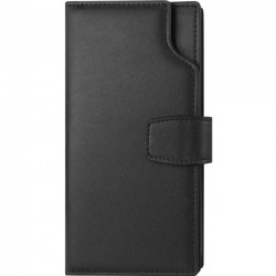 Amzer - AMZ203120 - Amzer Carrying Case (Wallet) for iPhone 8 Plus, Money, Credit Card, ID Card, Receipt, License - Black - Leather - Opaque