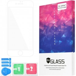 Amzer - AMZ203044 - Amzer Kristal Tempered Glass HD Edge2Edge White Screen Protector for iPhone 8 White, Transparent - For 4.7LCD iPhone 8