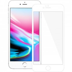 Amzer - AMZ203125 - Amzer Kristal Tempered Glass HD Edge2Edge White Screen Protector For iPhone 8 Plus Transparent, White - LCD iPhone 8 Plus