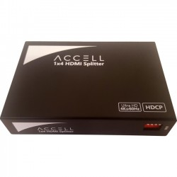 Accell - K078C-009B - Accell 1x4 HDMI Splitter - Supports 4K UHD @ 60Hz - 3840 2160 - HDMI In - HDMI Out