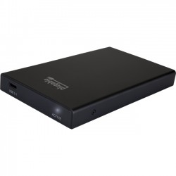 Plugable - USBC-SATA-E - Plugable Drive Enclosure External - Black Brushed Aluminum - 1 x Total Bay - 1 x 2.5 Bay - Serial ATA/600 - USB 3.1 Type C - Aluminum