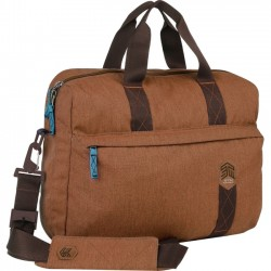 STM Bags - stm-112-147P-10 - STM Goods Judge Carrying Case (Briefcase) for 15, Notebook - Desert Brown - Impact Resistant - Polyester - Shoulder Strap - 15.9 Height x 12.2 Width x 3.9 Depth