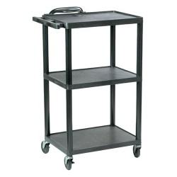 Ergoguys - PC1642E - Hamilton Buhl Plastic AV Cart Adjustable from 16 to 42 - 42 Height - Plastic