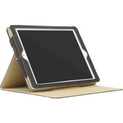 Incipio - CL60514 - Incase Carrying Case (Book Fold) for iPad Air - Black, Tan - Polyurethane, Polyester Interior - 9.5 Height x 7 Width x 0.8 Depth