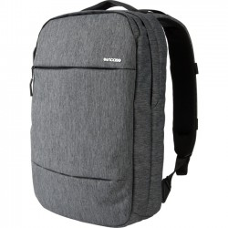 Incipio - CL55571 - Incase City Carrying Case (Backpack) for 15.6 Notebook - Black Heather, Gunmetal Gray - Fleece - Shoulder Strap - 19 Height x 14 Width x 4.8 Depth