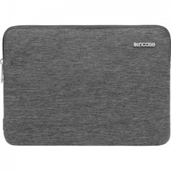 Incipio - CL60675 - Incase Slim Sleeve Carrying Case (Sleeve) for 12 MacBook - Black Heather - Bump Resistant Interior, Scratch Resistant Interior - 300D Ecoya