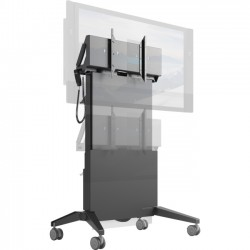 Salamander Designs - FPS1/ELT/GG - Salamander Designs Electric Lift & Tilt Mobile Stand - Designed for Touch Displays up to 65 or 175 lbs (79 kg)