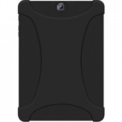 Amzer - AMZ97961 - Amzer Rugged Silicone Skin Jelly Case for Samsung GALAXY Tab S2 9.7 - Black - Tablet - Black - Textured - Silicone