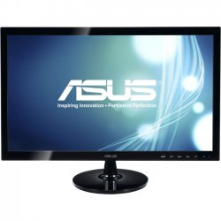 "Asus - VS228H-P - Asus VS228H-P 21.5"" LED LCD Monitor - 16:9 - 5 ms - Adjustable Display Angle - 1920 x 1080 - 16.7 Million Colors - 250 Nit - 50,000,000:1 - Full HD - HDMI - VGA - 25 W - Black - WEEE, ENERGY STAR, RoHS, EPEAT Silver"