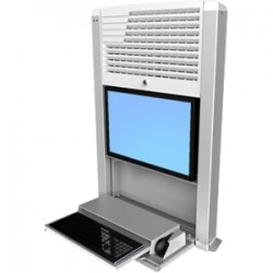 "Ergotron - 60-610-062 - Ergotron StyleView 60-610-062 Computer Cabinet - 24.03 lb Load Capacity - Front Open - 38.2"" Height x 26.6"" Width x 19.3"" Depth - White"
