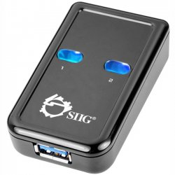 SIIG - JU-SW0012-S1 - SIIG 2-port USB Switch - USB - External - 2 USB Port(s) - 2 USB 3.0 Port(s)
