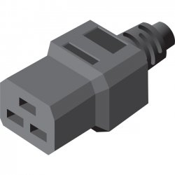 Server Technology - CAB-1310A - Server Technology Power Extension Cord - 250 V AC Voltage Rating - 20 A Current Rating