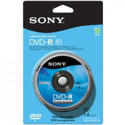 Sony - 10DMR30RS1H - Sony DVD-R Media - 1.4GB - 80mm Mini - 10 Pack Spindle