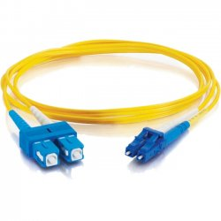 C2G (Cables To Go) - 11187 - 1m LC-SC 9/125 OS1 Duplex Singlemode Fiber Optic Cable (TAA Compliant) - Yellow - Fiber Optic for Network Device - LC Male - SC Male - 9/125 - Duplex Singlemode - OS1 - TAA Compliant - 1m - Yellow