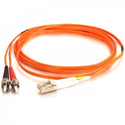 C2G (Cables To Go) - 11055 - 2m LC-ST 50/125 OM2 Duplex Multimode Fiber Optic Cable (TAA Compliant) - Orange - Fiber Optic for Network Device - LC Male - ST Male - 50/125 - Duplex Multimode - OM2 - TAA Compliant - 2m - Orange