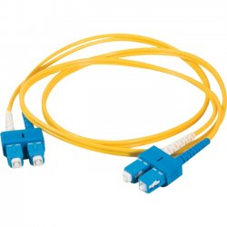 C2G (Cables To Go) - 11214 - C2G-3m SC-SC 9/125 OS1 Duplex Singlemode Fiber Optic Cable (TAA Compliant) - Yellow - Fiber Optic for Network Device - SC Male - SC Male - 9/125 - Duplex Singlemode - OS1 - TAA Compliant - 3m - Yellow