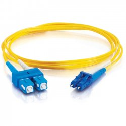 C2G (Cables To Go) - 11191 - 5m LC-SC 9/125 OS1 Duplex Singlemode Fiber Optic Cable (TAA Compliant) - Yellow - Fiber Optic for Network Device - LC Male - SC Male - 9/125 - Duplex Singlemode - OS1 - TAA Compliant - 5m - Yellow