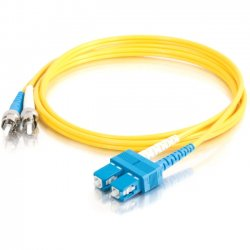 C2G (Cables To Go) - 11225 - 2m SC-ST 9/125 OS1 Duplex Singlemode Fiber Optic Cable (TAA Compliant) - Yellow - Fiber Optic for Network Device - SC Male - ST Male - 9/125 - Duplex Singlemode - OS1 - TAA Compliant - 2m - Yellow