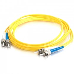 C2G (Cables To Go) - 11237 - 2m ST-ST 9/125 OS1 Duplex Singlemode Fiber Optic Cable (TAA Compliant) - Yellow - Fiber Optic for Network Device - ST Male - ST Male - 9/125 - Duplex Singlemode - OS1 - TAA Compliant - 2m - Yellow
