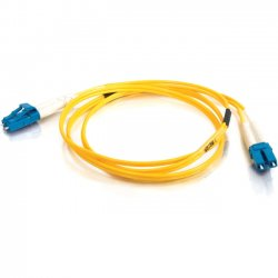 C2G (Cables To Go) - 11175 - 1m LC-LC 9/125 OS1 Duplex Singlemode Fiber Optic Cable (TAA Compliant) - Yellow - Fiber Optic for Network Device - LC Male - LC Male - 9/125 - Duplex Singlemode - OS1 - TAA Compliant - 1m - Yellow