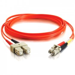 C2G (Cables To Go) - 11125 - C2G-15m LC-SC 62.5/125 OM1 Duplex Multimode Fiber Optic Cable (TAA Compliant) - Orange - Fiber Optic for Network Device - LC Male - SC Male - 62.5/125 - Duplex Multimode - OM1 - TAA Compliant - 15m - Orange