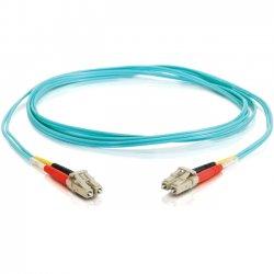 C2G (Cables To Go) - 11002 - 3m LC-LC 10Gb 50/125 OM3 Duplex Multimode Fiber Optic Cable (TAA Compliant) - Aqua - Fiber Optic for Network Device - LC Male - LC Male - 10Gb - 50/125 - Duplex Multimode - OM3 - 10GBase-SR, 10GBase-LRM - TAA Compliant - 3m -