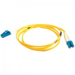 C2G (Cables To Go) - 11182 - C2G-8m LC-LC 9/125 OS1 Duplex Singlemode Fiber Optic Cable (TAA Compliant) - Yellow - Fiber Optic for Network Device - LC Male - LC Male - 9/125 - Duplex Singlemode - OS1 - TAA Compliant - 8m - Yellow