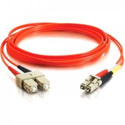 C2G (Cables To Go) - 11052 - 15m LC-SC 50/125 OM2 Duplex Multimode Fiber Optic Cable (TAA Compliant) - Orange - Fiber Optic for Network Device - LC Male - SC Male - 50/125 - Duplex Multimode - OM2 - TAA Compliant - 15m - Orange